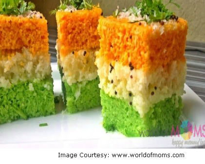 Republic Day special Tiranga Dhokla
