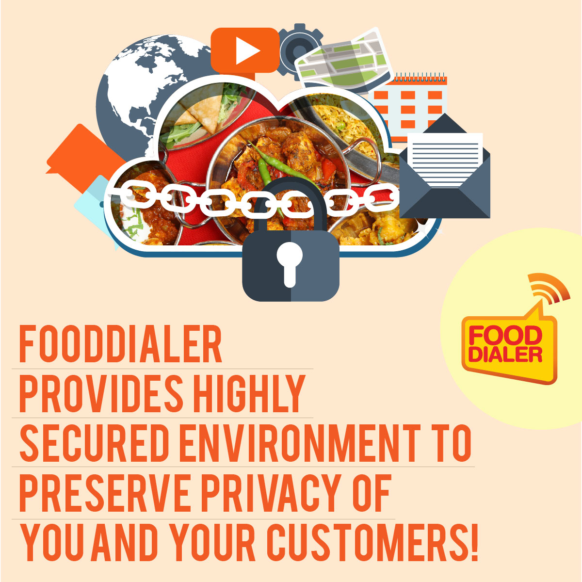 Secure your food business with Fooddialer; Say no to hacks!